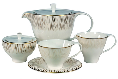 Чайный сервиз Royal Bone China - декор Голден Глоу на 6 персон (17 предметов) 58416 - Сеньор Фарфор