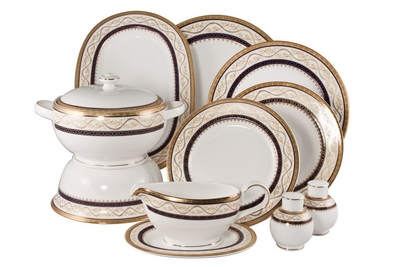 Столовый сервиз Royal Bone China - декор Бриттани на 6 персон (27 предметов) 58346 - Сеньор Фарфор