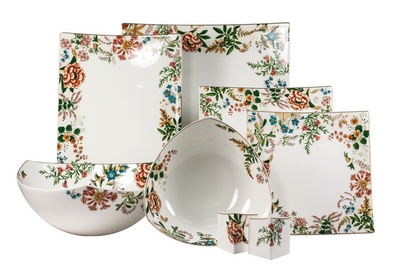 Столовый сервиз Royal Bone China - декор Джардино на 6 персон (23 предметов) 57847 - Сеньор Фарфор
