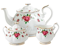 Чайный сервиз Royal Doulton New Country Roses White (3 предмета)