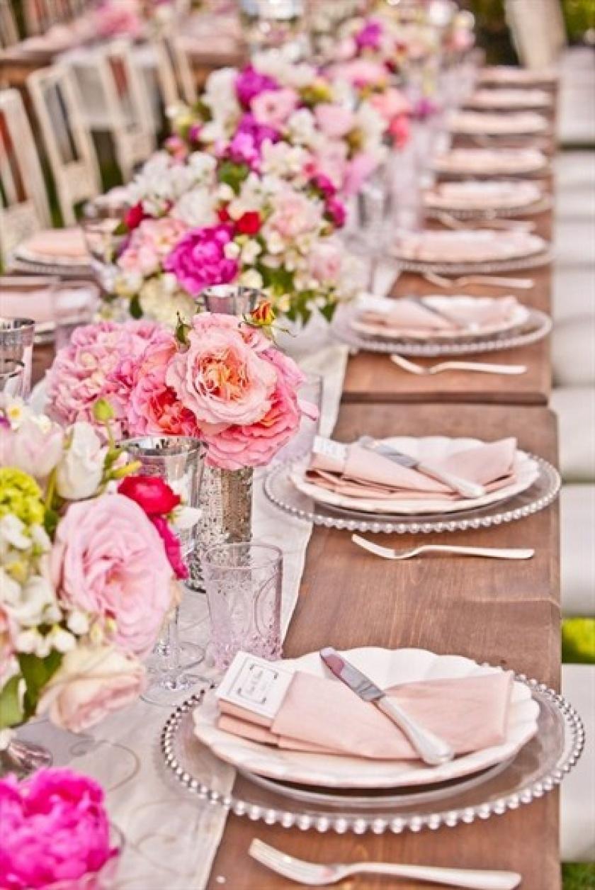 сервировка свадебного стола схема