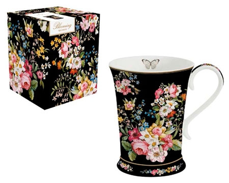 Кружка Easy Life Blooming Opulence Black 270мл