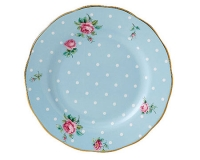 Тарелка Royal Albert Polka Blue Vintage 16см