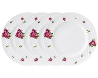 Набор тарелок Royal Albert New Country Roses White Modern 27см 4шт