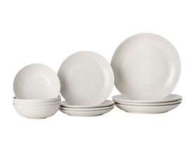 Чайно-столовый сервиз Royal Doulton Gordon Ramsay Maze White на 4 персоны (12 предметов)