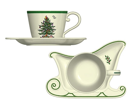 Чайная пара Spode Christmas Tree Jumbo 510мл