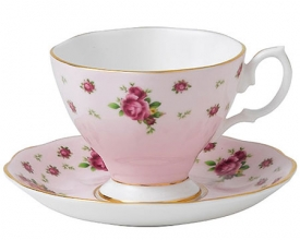 Кофейная пара Royal Albert New Country Roses Pink Vintage 130мл